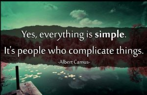 how people complicate life