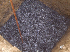 industrial salt and charcoal in earthing